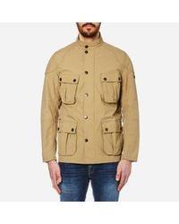 Barbour | Natural Men's Guard Casual Jacket for Men | Lyst