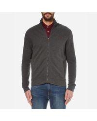 Polo Ralph Lauren | Gray Men's Rib Cotton Jacket for Men | Lyst