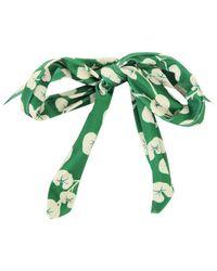Ganni - Green Women's Lyme Frill Swimsuit - Lyst