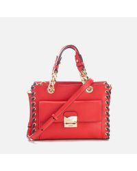 Karl Lagerfeld | Red Women's K/whipstitch Mini Tote Bag | Lyst