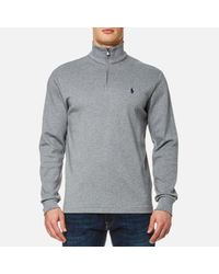 Polo Ralph Lauren | Gray Men's 1/4 Zip Pima Cotton Sweatshirt for Men | Lyst