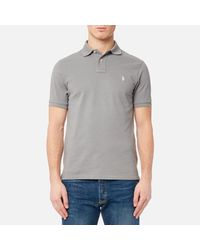 Polo Ralph Lauren - Gray Men's Short Sleeve Weathered Mesh Shirt for Men - Lyst