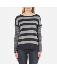 Barbour | Blue Women's Rivco Knitted Top | Lyst