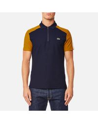 Lacoste - Blue Shoulder Detail Polo Shirt for Men - Lyst