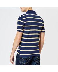 Polo Ralph Lauren - Blue Men's Stripe Short Sleeve Polo Shirt for Men - Lyst
