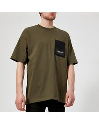 3b585a96d09c Calvin Klein - Green Men's Boreos 2 Relaxed Fit Crew Neck Tshirt for Men -  Lyst