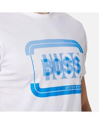 BOSS Green - White Men's 1 Crew Neck Tshirt for Men - Lyst
