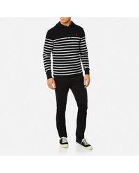 Polo Ralph Lauren - Black Men's Hooded Tshirt Stripe Hoody for Men - Lyst