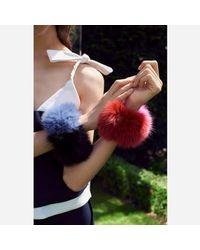 Charlotte Simone - Blue Women's Spankie Fur Cuff - Lyst