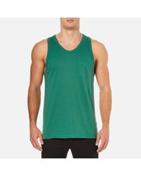 T By Alexander Wang - Green Men's Classic Pima Tank Top for Men - Lyst