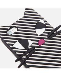 Lulu Guinness - Black Women's Kooky Cat Stripe Iphone 6 Case - Lyst