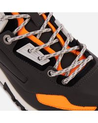 Lanvin Gray Reflective Nappa And Suede Runners for men