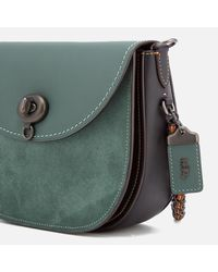 COACH - Green Women's Turnlock Saddle Bag - Lyst
