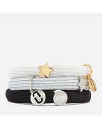 Marc Jacobs - Metallic Women's Mj Double Cut Out Pony Bracelet - Lyst