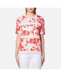 BOSS Orange | Red Women's Tabloom Top | Lyst