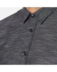 Folk - Blue Men's Textured Long Sleeve Shirt for Men - Lyst