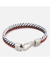 Tod's - Orange Men's Leather Pleated Bracelet for Men - Lyst