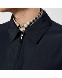 Aquascutum - Blue Men's Cliff Nylon Harrington Jacket for Men - Lyst