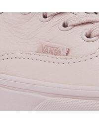 Vans - Pink Women's Authentic Leather Trainers - Lyst
