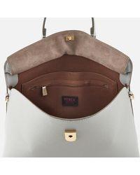 Furla Gray Women's My Piper Medium Top Handle Tote Bag