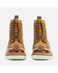 GRENSON - Brown Men's Fred V Brogue Boots for Men - Lyst