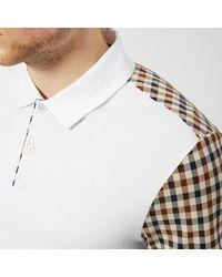 Aquascutum - White Men's Rutland Vicuna Detail Short Sleeve Polo Shirt for Men - Lyst