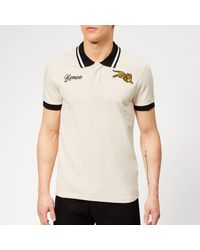 fbcb7ca90d29 KENZO Beige Jumping Tiger Fitted Polo in Natural for Men - Lyst