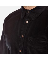 Nudie Jeans | Black Men's Calle Cord Shirt for Men | Lyst