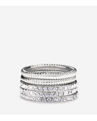 Cole Haan - Metallic Brilliant Cubic Zirconia Swarovski Stacked Ring Set - Lyst