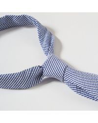 Corridor NYC - Blue Seersucker - Royal - Tie for Men - Lyst