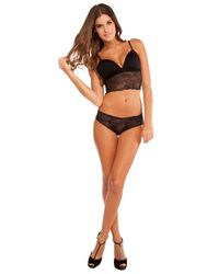 Cosabella - Black Trentatm Lowrider Lace Thong - Lyst