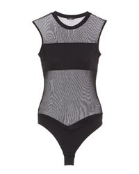 Cosabella - Black Bisou Illusion Bodysuit - Lyst