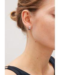 COS - Metallic Folded Earrings - Lyst