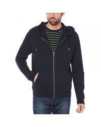 Original Penguin - Blue Raised Rib Pique Hooded Mens Sweatshirt for Men - Lyst