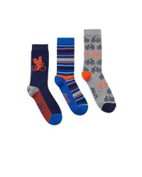 Joules - Blue Brilliant Bamboo 3pk Mens Sock Set (v) for Men - Lyst
