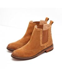 Joules - Brown Westbourne Ladies Suede Chelsea Boots (t) - Lyst