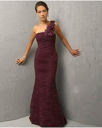 Jovani - Multicolor Ruched Bodice One-shoulder Trumpet Dress 7761 - Lyst