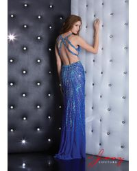 Jasz Couture - Blue Dress In Royal - Lyst