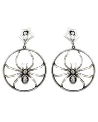 Irit Design - Metallic Sterling Silver And Diamond Hoops With Removable Spiders - Lyst