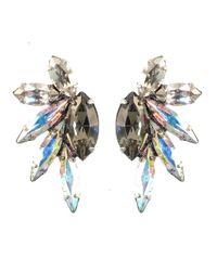 Elizabeth Cole | Metallic Hematiteplated Swarovski Crystal Earrings | Lyst
