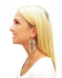 Elizabeth Cole - Metallic Pixie Earrings - Lyst