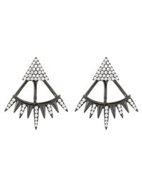 Ashley Schenkein Jewelry - Metallic Melrose Cz Triangle Spike Earring - Lyst
