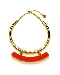 Ben-Amun - Havana Collar With Orange Resin Bar - Lyst