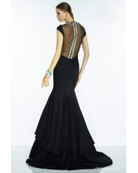 Alyce Paris - Claudine - 2556 Long Dress In Black Multi - Lyst