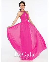 Mon Cheri | Pink La Gala Prom By - Long Dress In Fuchsia | Lyst