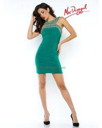 Mac Duggal | Prom - N High Neck Dress In Emerald Green | Lyst