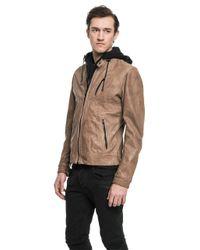Lamarque - Brown Slayer Motorcycle Jacket In Espresso for Men - Lyst