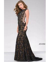 Jovani | Black Side Corset Lace Prom Dress | Lyst