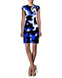 Johanne Beck | Blue Coco - Cap Sleeve Dress / Cobalt Geo S | Lyst