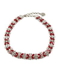 Ben-Amun | Red Ruby Deco Crystal Necklace | Lyst